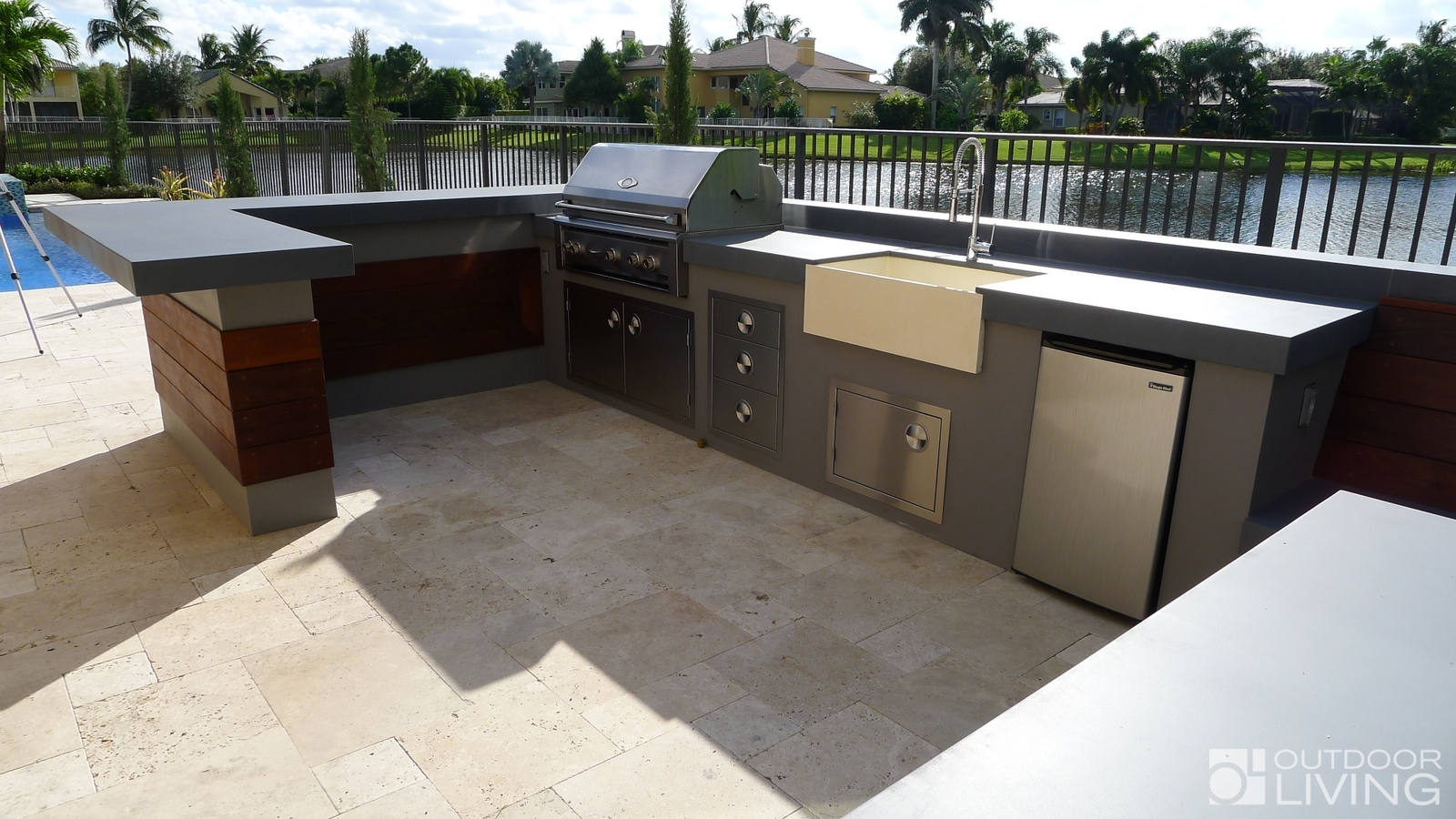 Ultra Modern Outdoor Kitchen Table Amp Bench