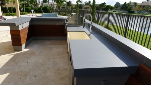 ultra modern outdoor kitchen table bench outdoor living florida