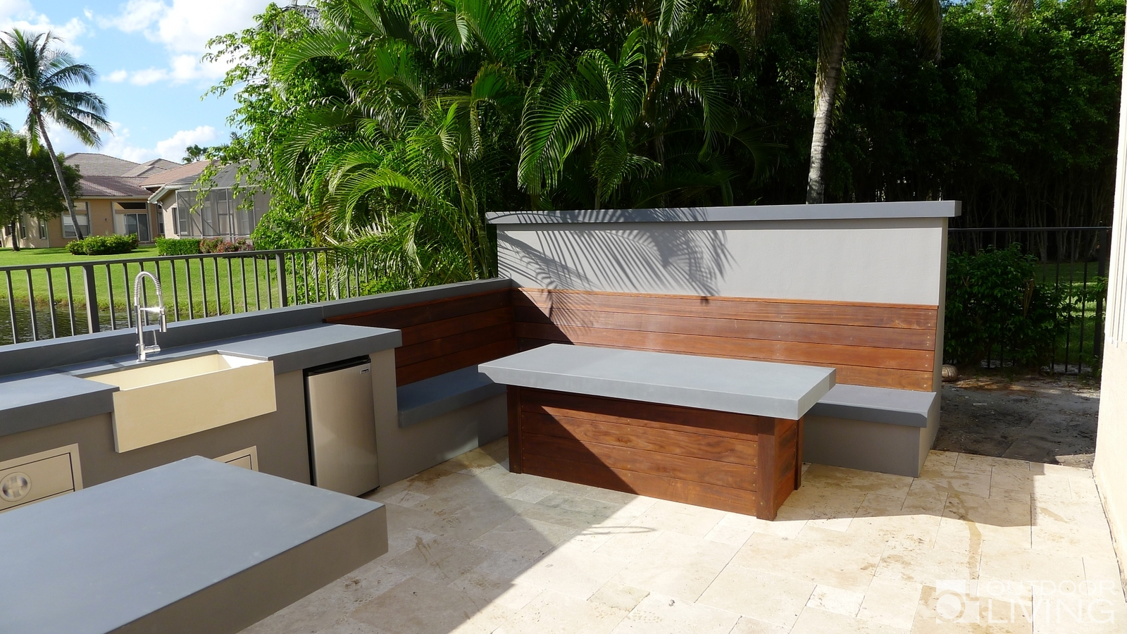 Ultra Modern Outdoor Kitchen Table Amp Bench Outdoor