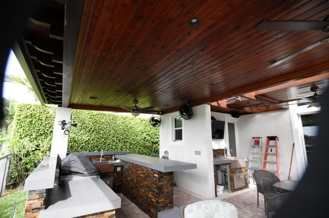 New Roofed Patio Extension with Outdoor Kitchen on Backyard Patio Extension id=83999